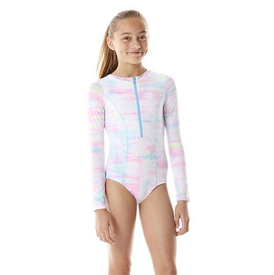 Tie Dye Long Sleeve One Piece