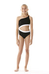 Submarine Swim Black White Cutout One Piece for girls