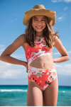 Split Coral Spring One Piece