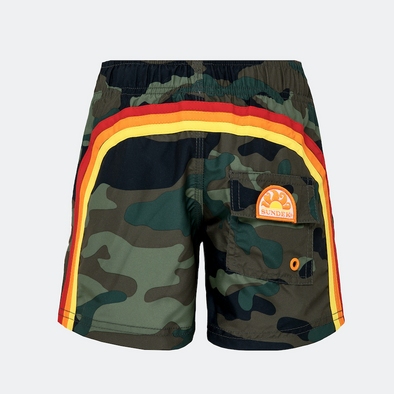 New Boys Camo Elastic Waist Swim Short