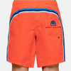 Men's Neon Orange Elastic Waist Swim Short