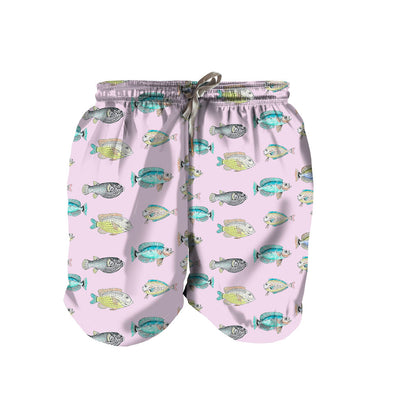 Lila Scale Boy Swim Trunks