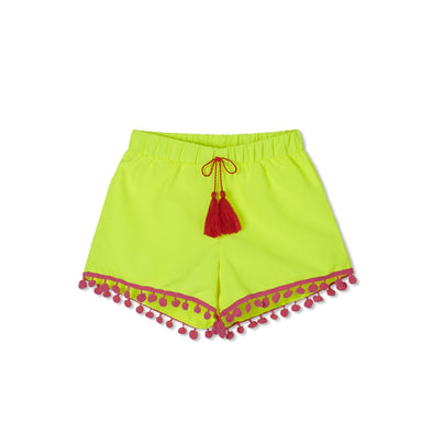 Yellow Pom Pom Shorts