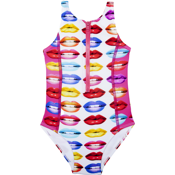 Lips Zipper One-Piece