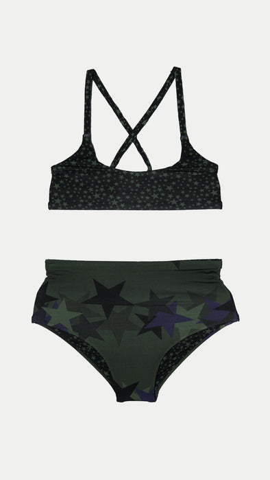 Dark Star Reversible High Waisted Bikini