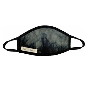 Adult Tie Dye Black Marble Face Mask