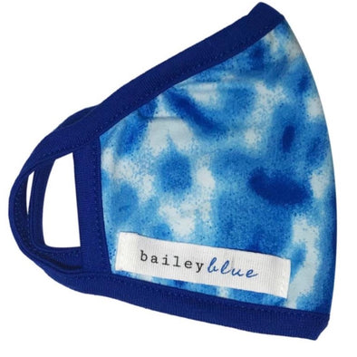 Adult Tie Dye Royal Blue Cloud Mask