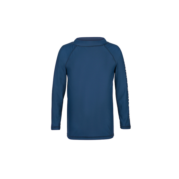 Boys Denim Blue Long Sleeved Rashguard