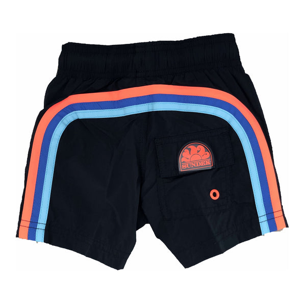 Dark Navy Elastic Waist Swim Short