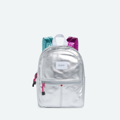 Mini Kane Metallic Silver Backpack