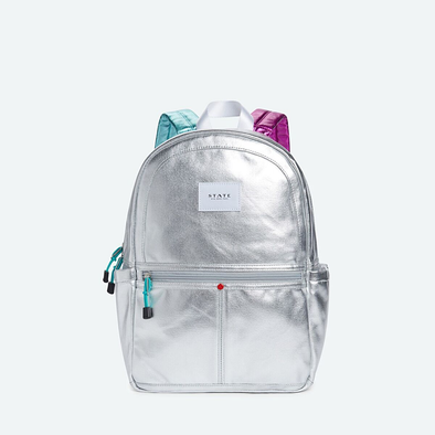 Kane Metallic Silver Backpack