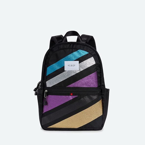 Kane Glitter Striped Backpack