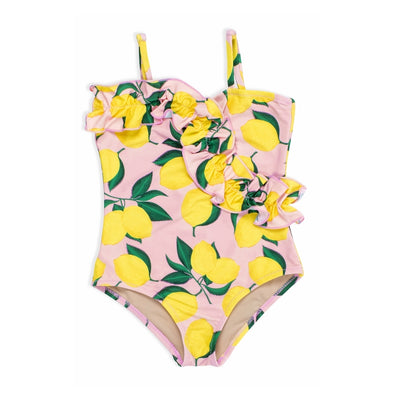 Ruffle Front Lemon One Piece