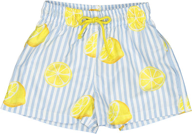 Summer Citrus Boy Swim Trunks