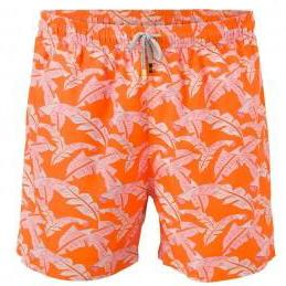 Pink Leaves Men Swim Short