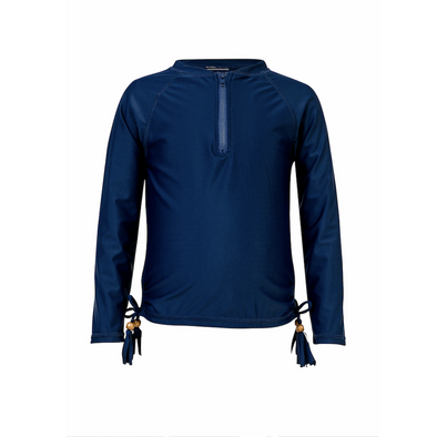 Girls Navy Blue Long Sleeved Rashguard