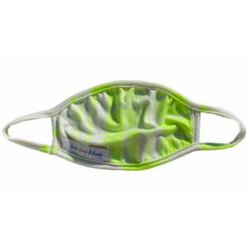 Kids Tie Dye Neon Yellow Face Mask