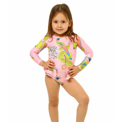 Sweet Blush Pauli Long Sleeved Swimsuit