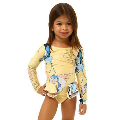 Blue Bird Pauli Long Sleeve Swimsuit