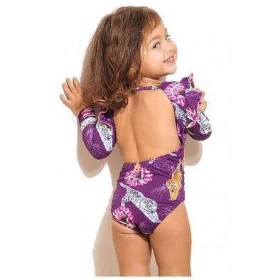 Tigre Morado Pauli Long Sleeved Swimsuit