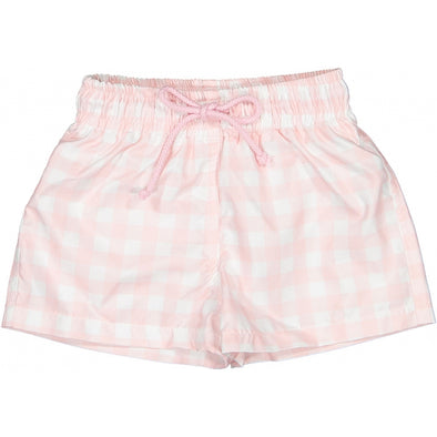 Pink Square One Boy Swim Trunks