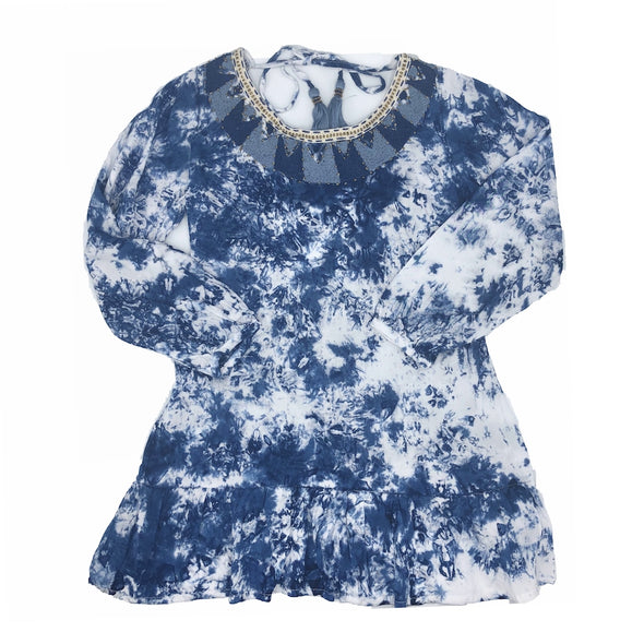 Sunset Tie Dye Indigo Dress