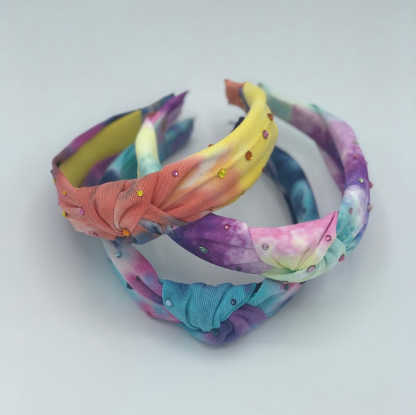 Coral Tie Dye Knotted Headband