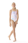 Zippered Tie Dye One Piece