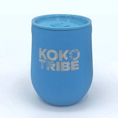 Koko Tribe Stemless Wine Glass in Neon Blue