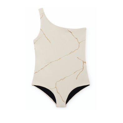 Kintsugi White One-Piece Bathing Suit