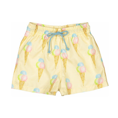 Yellow Ice Cream Swim Trunks