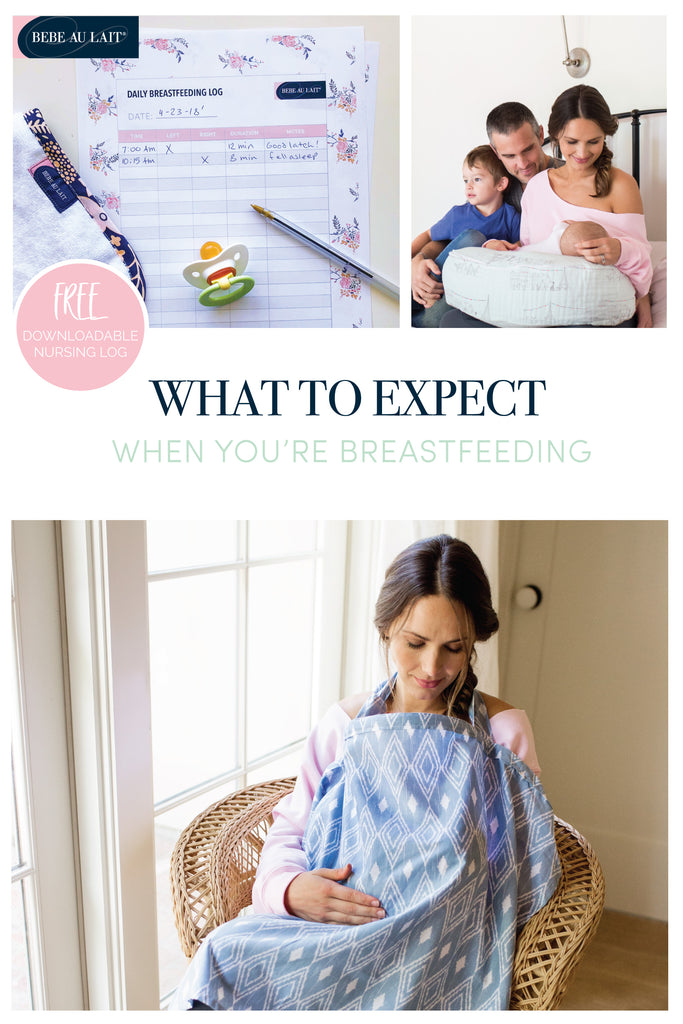 What to expect when you're breastfeeding