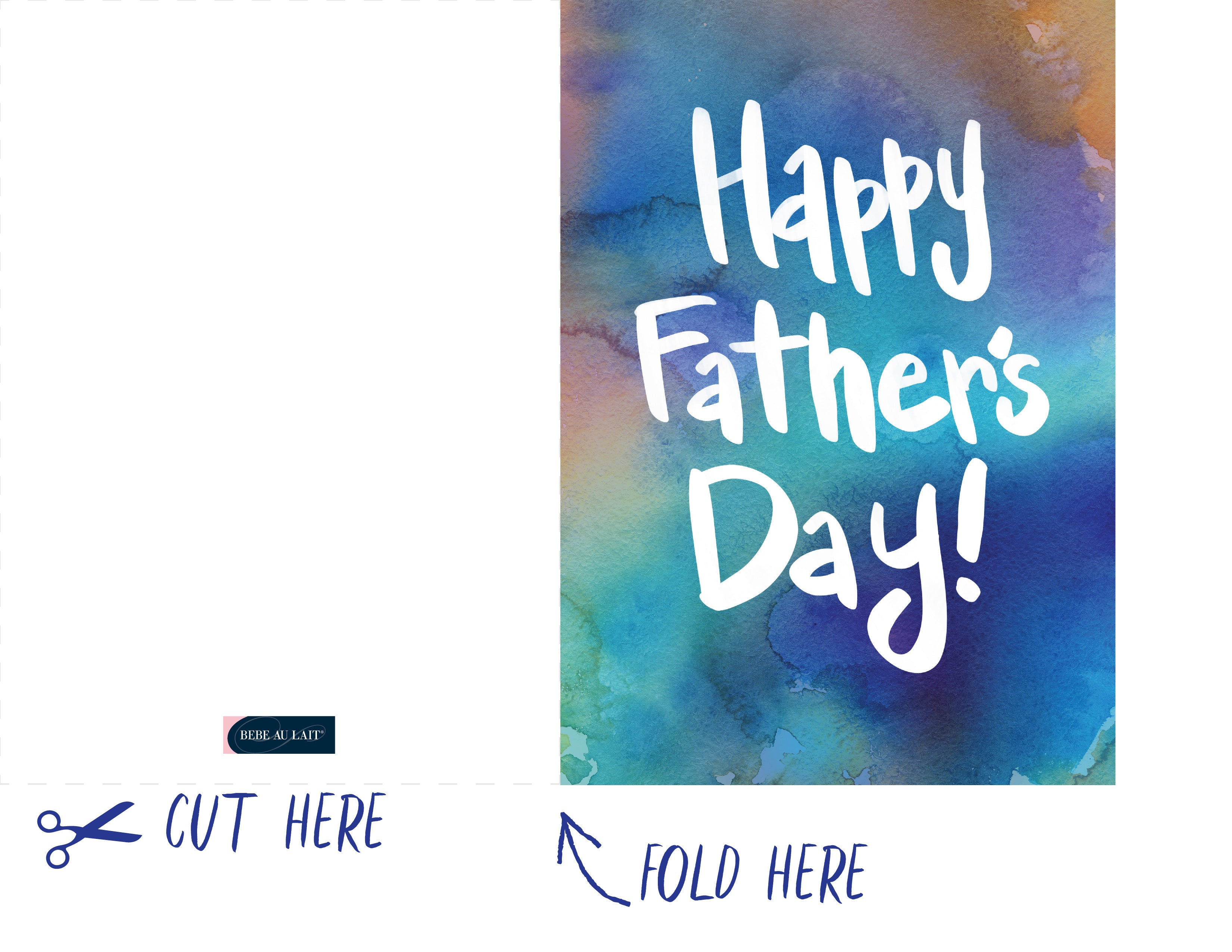 Celebrate Dad With Our Free Downloadable Fathers Day Card Bebe