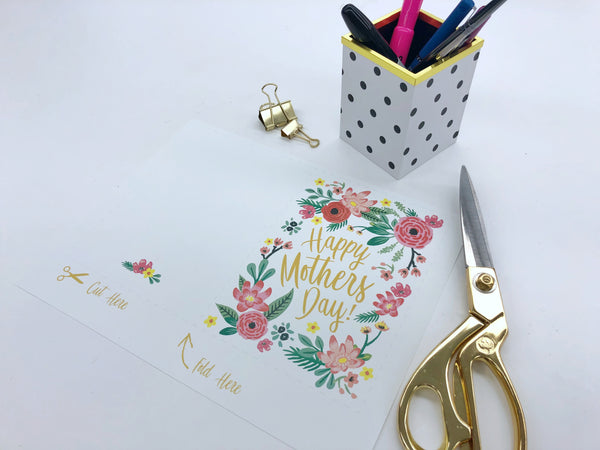 Free downloadable Mother's Day Card - print out