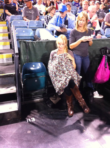 Nursing at a Major League Soccer game