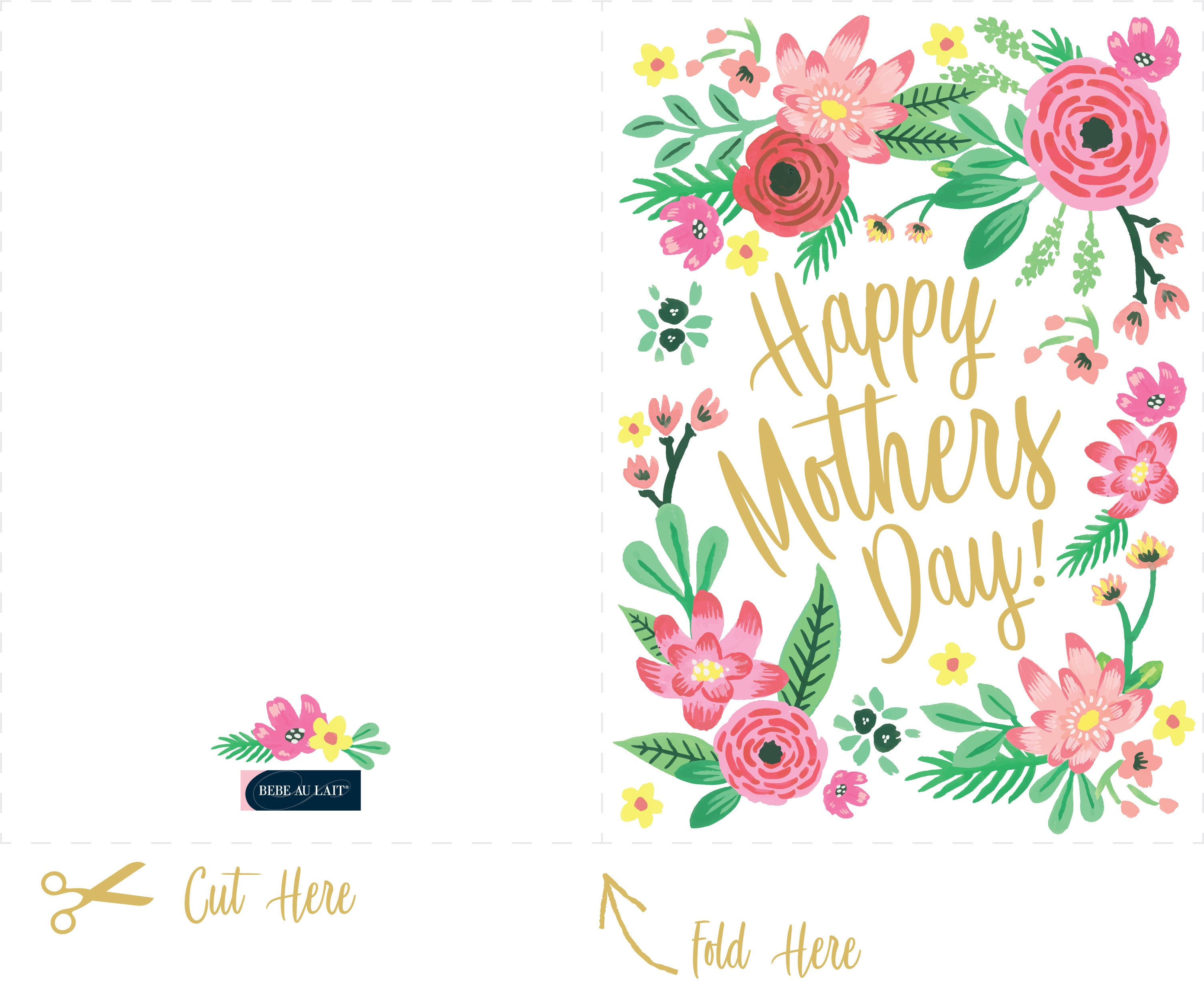 Celebrate Mom With Our Free Downloadable Mothers Day Card Bebe