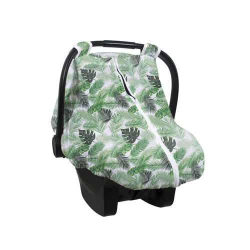 Palm Muslin Car Seat Cover