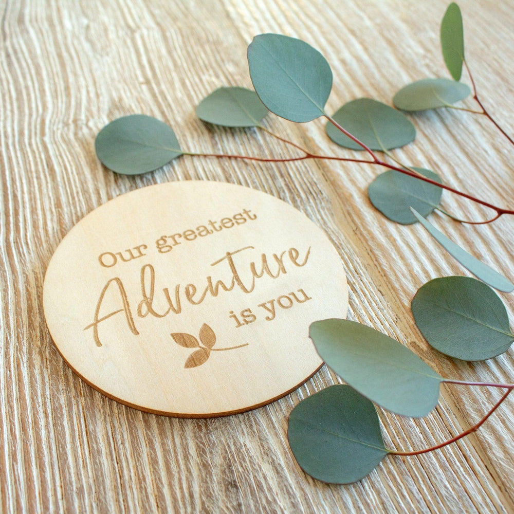 Our Greatest Adventure Is You Milestone Disc - Milestone Moments - Bebe au Lait