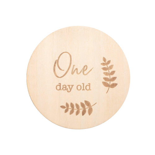 One Day Old Milestone Disc - Milestone Moments - Bebe au Lait