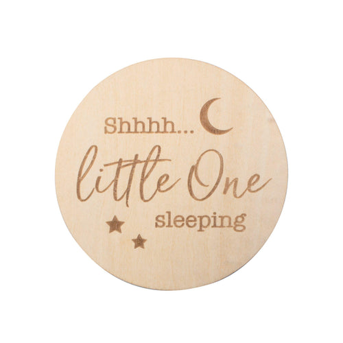Little One Sleeping Milestone Disc