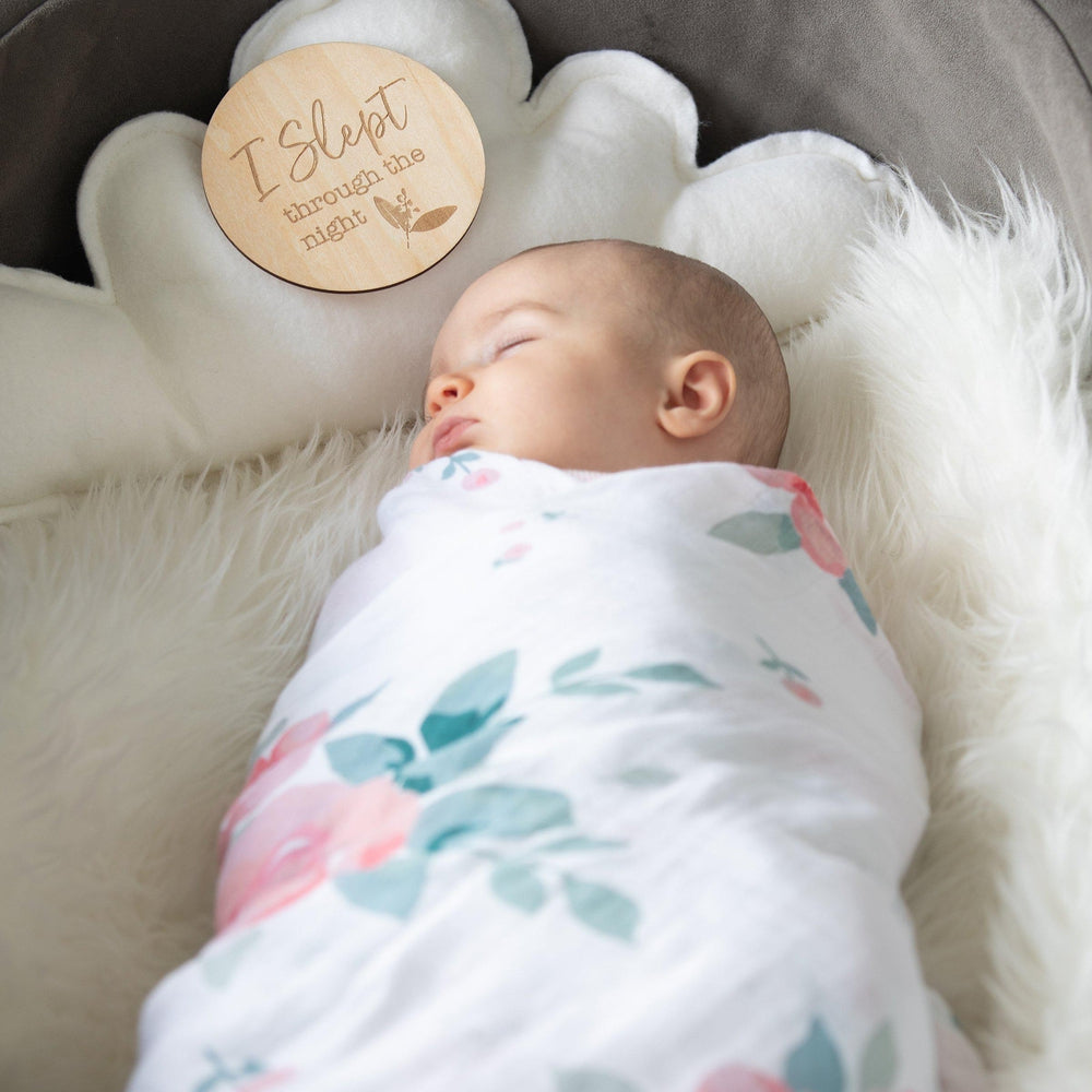 Rosy Single Luxury Muslin Swaddle Blanket - Swaddle Blanket - Bebe au Lait
