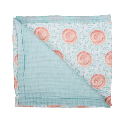 Fresco + Lagoon Luxury Muslin Snuggle Blanket