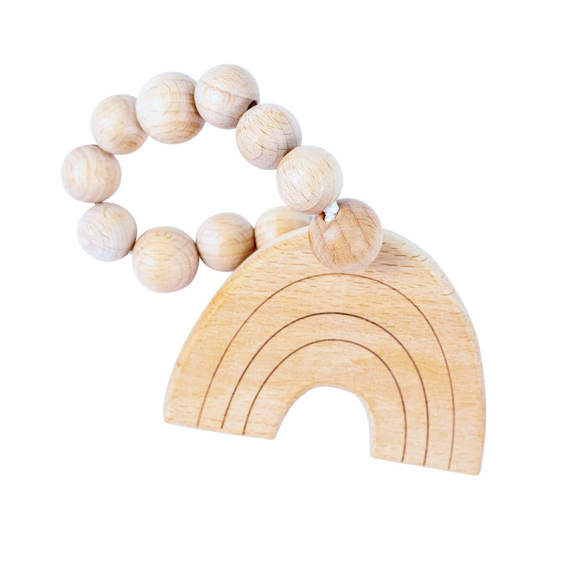 Rainbow Wooden Teether - Wooden Teether - Bebe au Lait