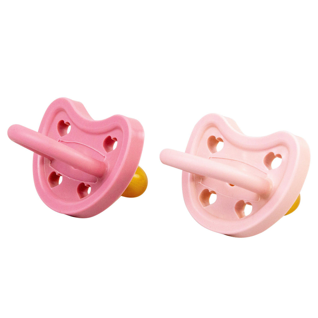 All Natural Rubber Pacifiers-Raspberry + Strawberry | 100% Natural Rubber-Bebe au Lait
