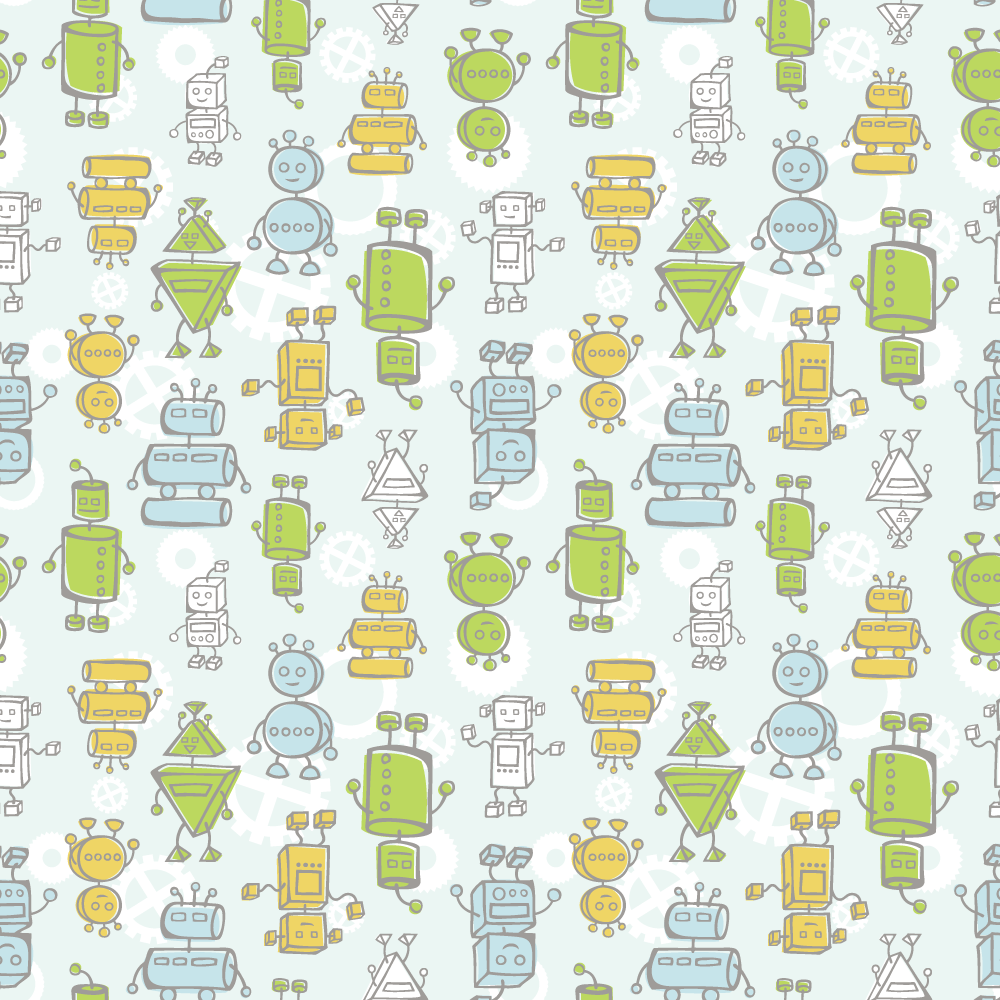 Robot Print Baby Hooded Towel