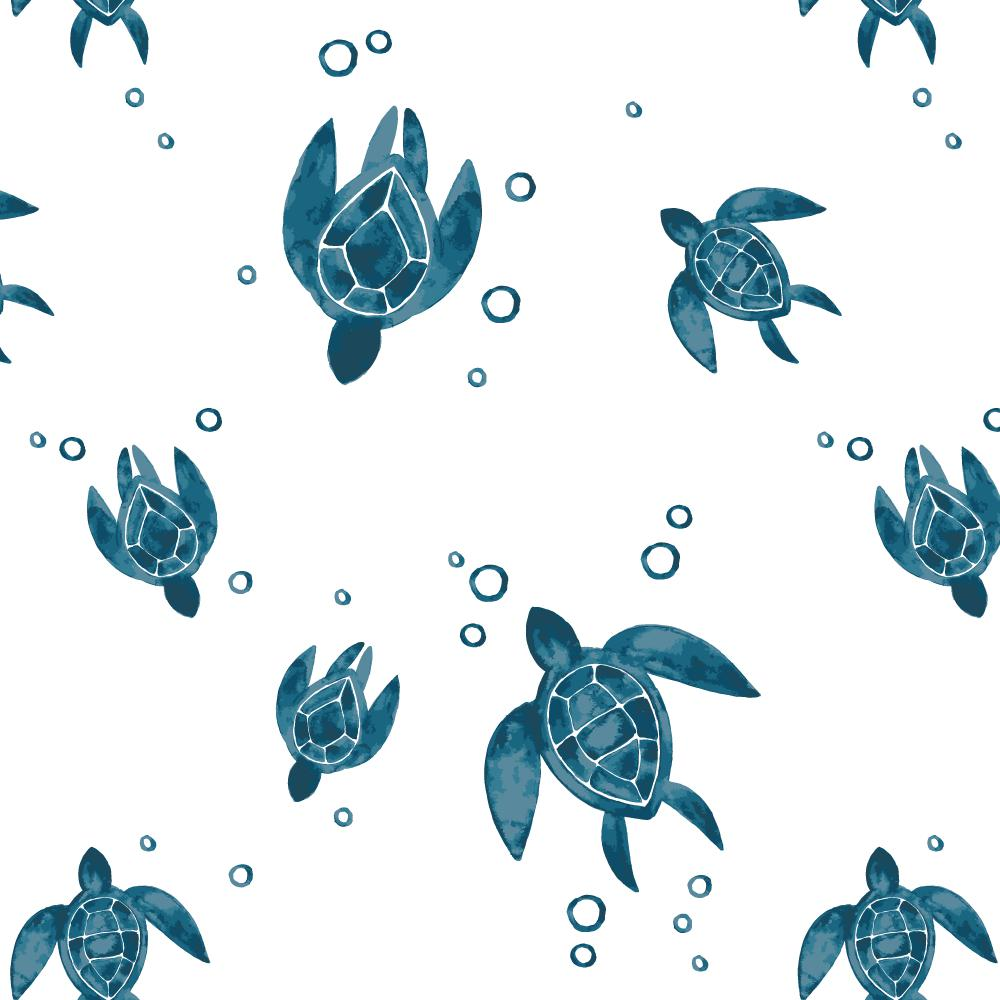 Sea Turtles Luxury Muslin Crib Sheet-Crib Sheet-Bebe au Lait