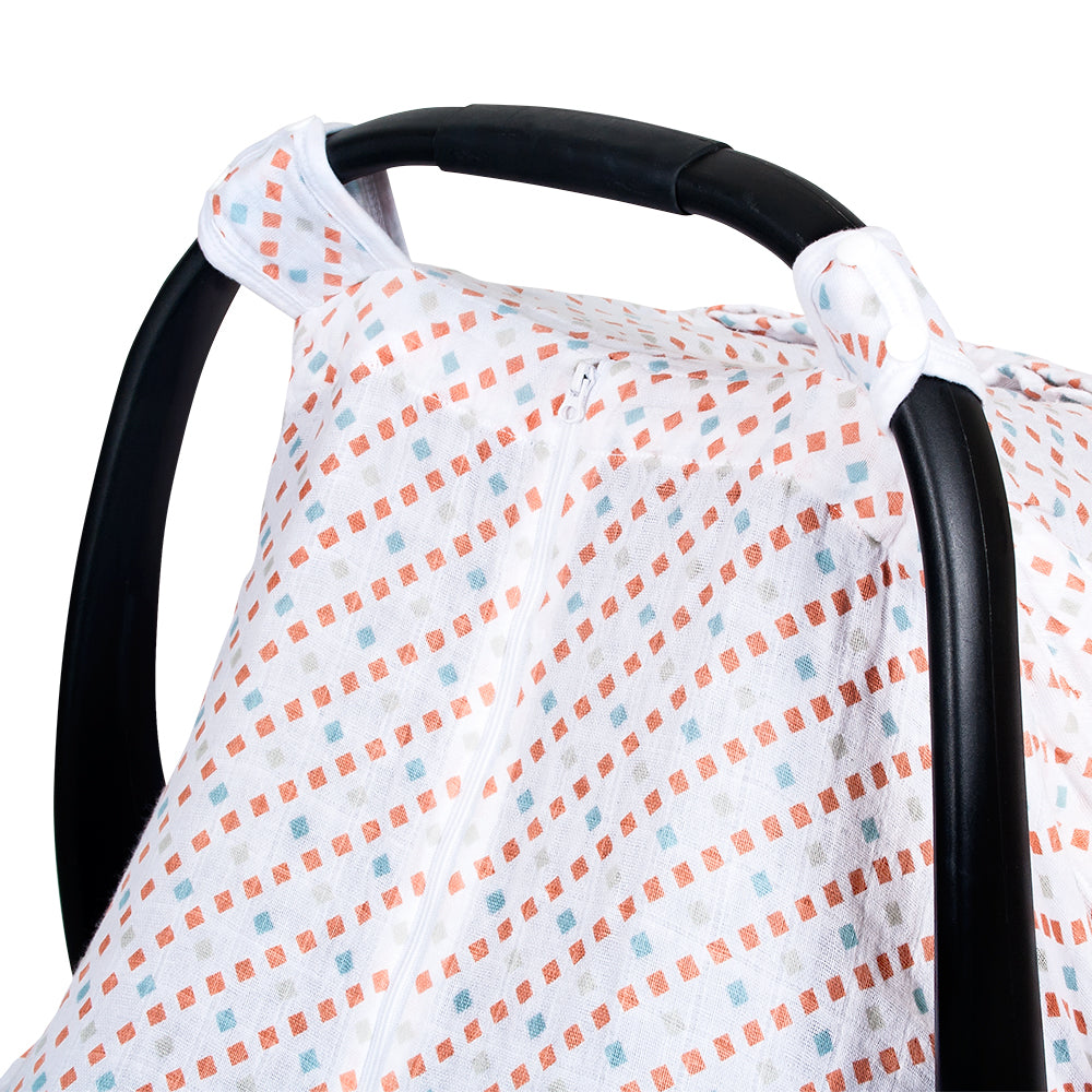 Tinsley Muslin Car Seat Cover