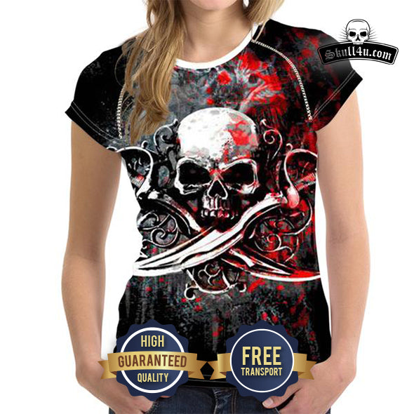 Women's T-Shirt Skull of Hell