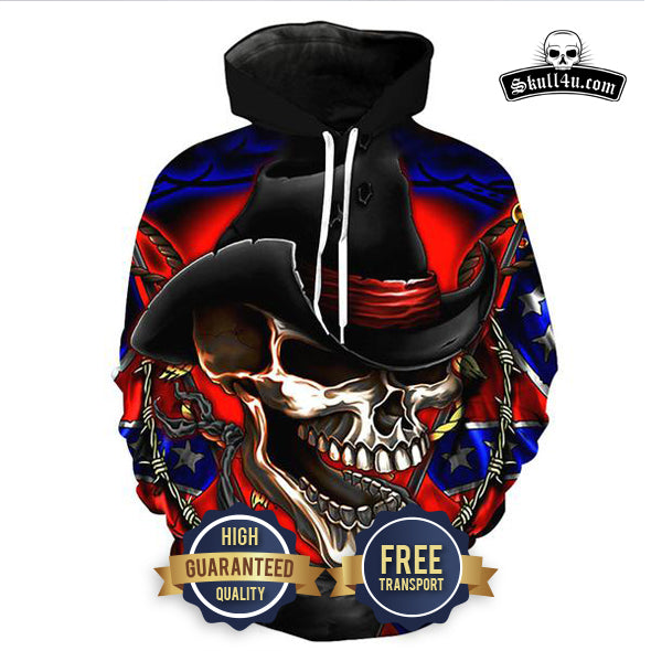 2018 Winter Skull Hoodies