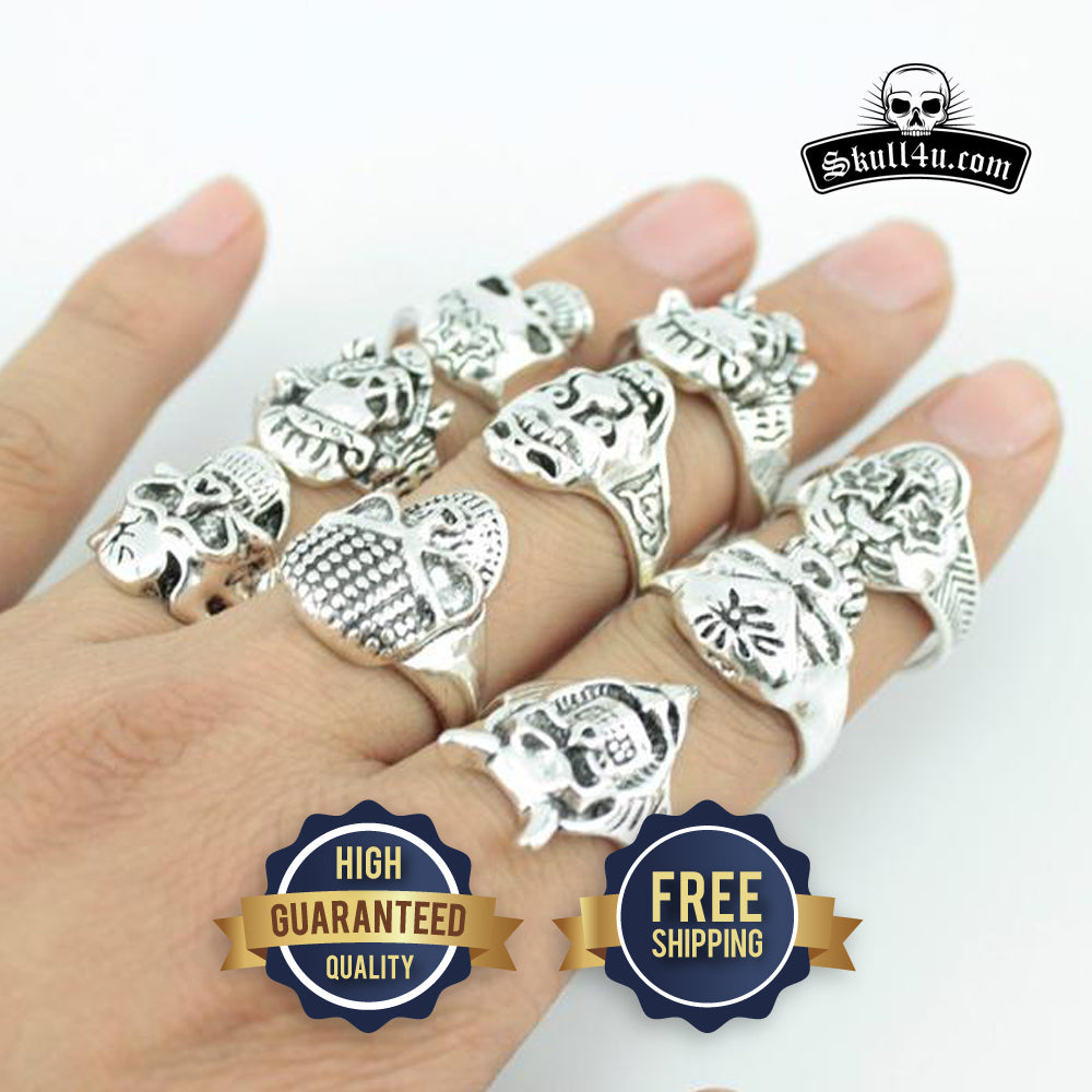 Rings Skull Pack with 25 pcs